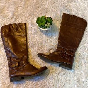 Marc Fisher Brown Leather Boots